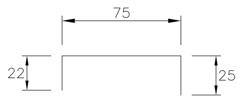 Fästplåt - Täckbeslag 200 Pulpet