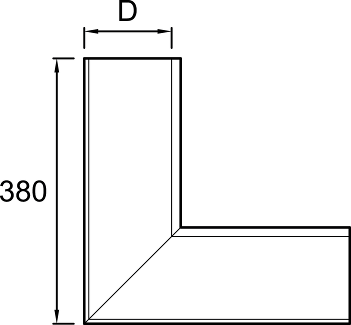 349 Gutter angle outer Square EPS