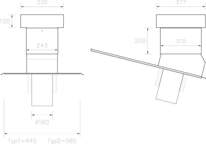 STW Ventilationshuv 160 125 Plannja typ 1+2 JPG